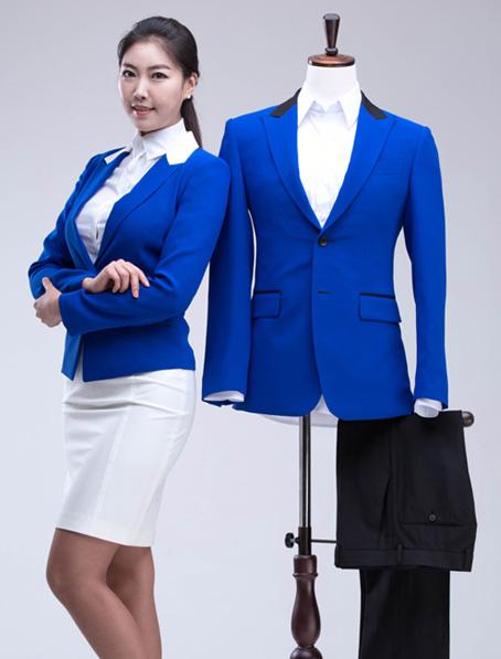乐动体育官网下载app宝蓝色职业装套裙定做