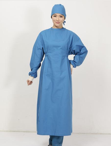 乐动体育官网下载app定做女款手术长袍,湖蓝