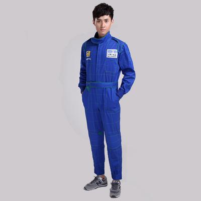 乐动体育官网下载app蓝色长袖汽修工作服套装-夏季工程服